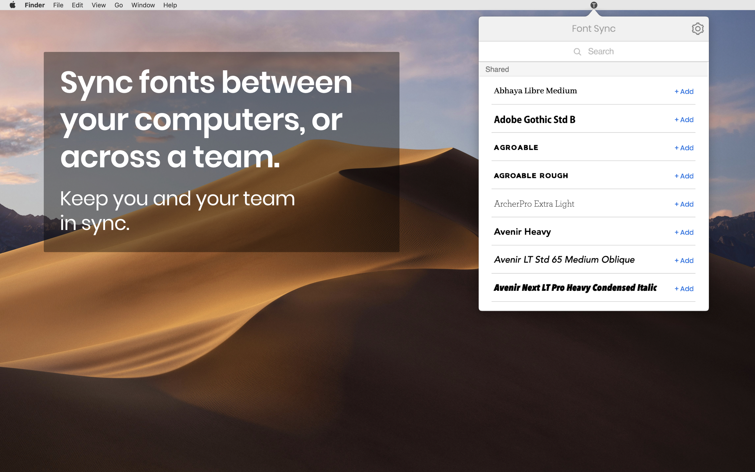 Keep your team in sync - distribute fonts with ease